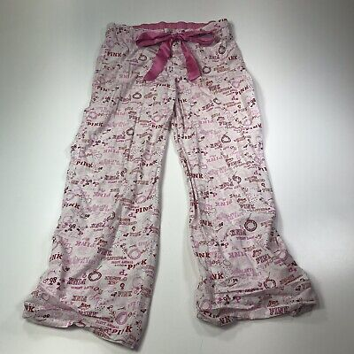 9100d6accb81d VICTORIA'S SECRET PINK Pajama Bottoms Pants Size L Elastic Back ...