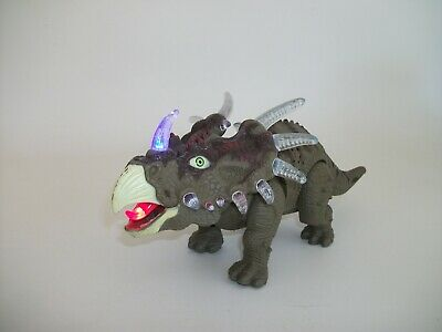 Kids Real Movement  Walking Triceratops Dinosaur Figure With Lights & Sounds Toy