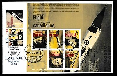 Canadians in Flight - Pilot/Plane issue 2019 PANE FDC- DUAL DATE