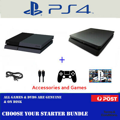 Playstation 4 PS4 Console Starter Bundles: 500GB or 1TB PRO: 12 Months Warranty