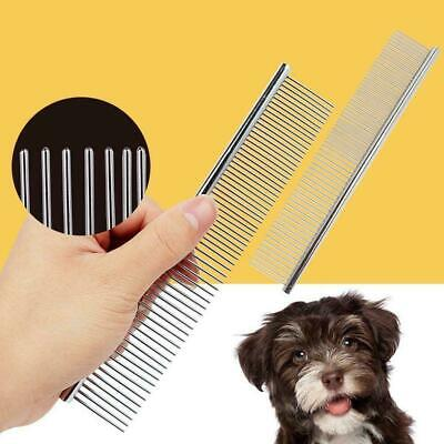 Stainless Steel Comb Hair Brush Shedding Flea For Pets Dog Trimmer Cat Groo V4S9