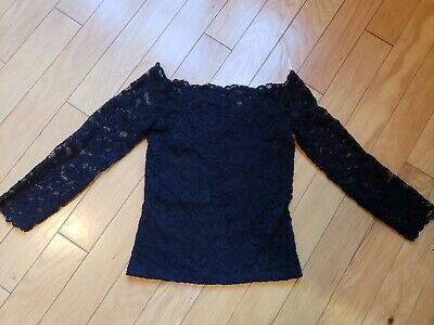 New womens girls lace shoulders off H&M top sie XS