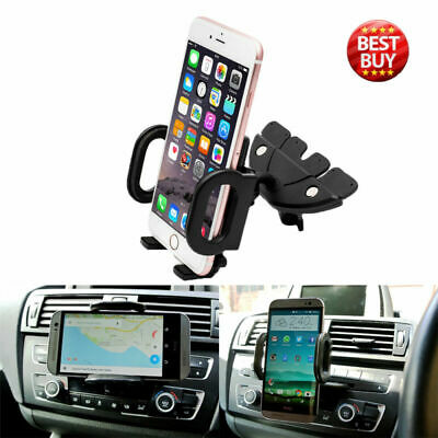 Universal 360°Car CD Slot Holder Mobile Phone GPS Sat Nav Stand Cradle Mount UK