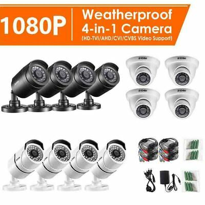 ZOSI 1080P CCTV Camera HD 4in1 Outdoor 3000TVL Home Security Surveillance System