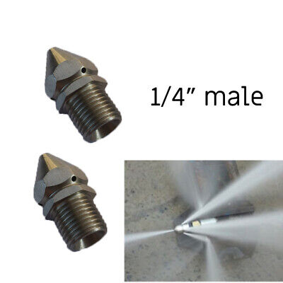 1/4'' Male Pressure Washer Drain Sewer Cleaning Pipe 4 Jetter Spray Nozzle