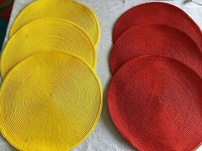 Lot de 6 sets de table jaune et rouge