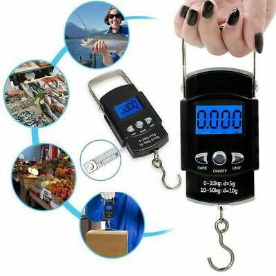 50kg Digital Travel Portable Handheld Weighing Luggage Scales Suitcase Fishing