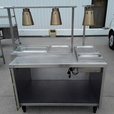 Commercial Carvery Heated Gantry Hot Lights Dry Bain Marie