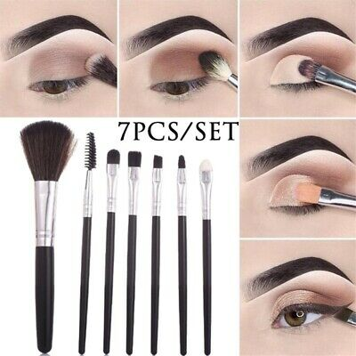 7pcs/Set Pro Makeup Brushes Kit Powder Foundation Eyeshadow Eyeliner Lip Brush