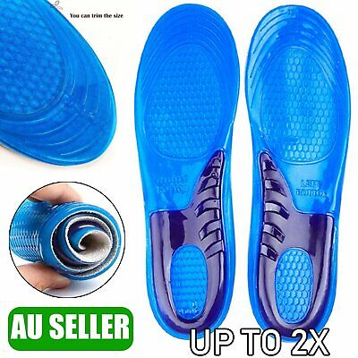 Massaging Gel Shoe Insoles Arch Supports For Men Women FlatFoot High Quality AU