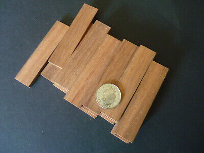 Wood Strip_Mahogany (5mm x  18mm x  80mm ) 18 lengths for Modeling,Craft, etc