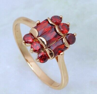 Art Deco Antique Jewellery Gold Ring With Ruby Vintage Jewelry size 7 N1/2