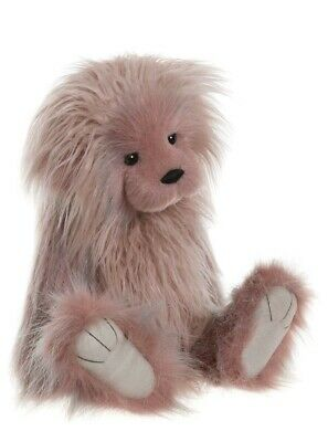 NEW! 2019 Charlie Bears ELEANOR plush collection jointed pink fluffy teddy bear