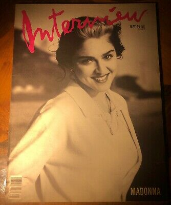 Andy Warhol Interview Magazine MAY 1989 MADONNA COVER ~WINONA RYDER Article