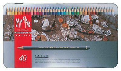 Caran D'Ache Pablo 40 Color Pencil Assortment