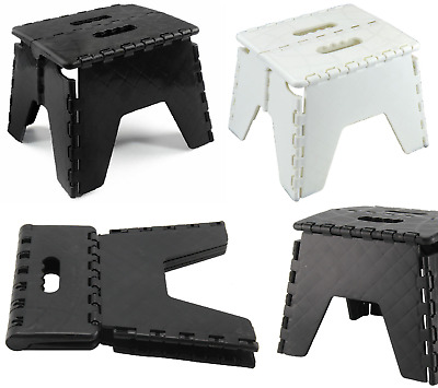 Multi Purpose Folding Step Stool Home Kitchen Garage Plastic Stool Easy Storage
