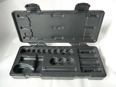 (Empty)  Halfords 3/8 Blow Molded Case  (no Tools)