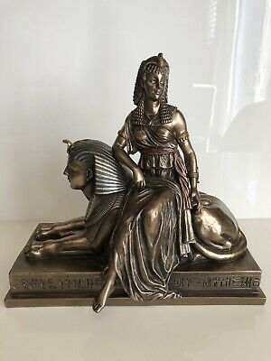 Cleopatra Sitting On A Sphinx Egyptian Statue Sculpture Figurine By Veronese