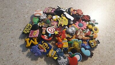 Lot Of 50 Random Crocs Jibbitz Charms, for treasure chest, party favors, crafts