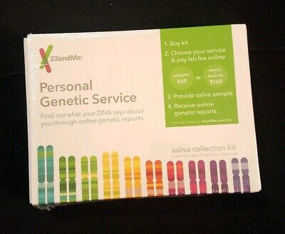 23andMe Personal Genetic Service Saliva Collection Kit- 11/2019