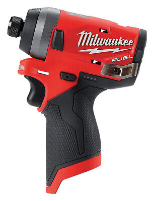 Milwaukee  M12 FUEL  12 volt 1/4 in. Hex  Cordless  Brushless Bare  Impact Drive