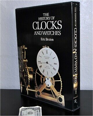 HISTORY OF CLOCKS AND WATCHES Eric Bruton 1979 1st Edition w/SlipCase near mint