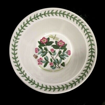 Beautiful Portmeirion Botanic Garden Rhododendron Rim Cereal Bowl