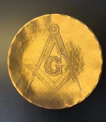 Wendell August Forge Masonic Solid Bronze 6 Inch Plate.
