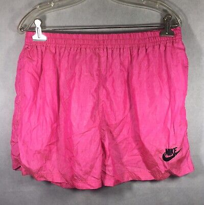 Vintage 90's Nike Shorts Pink Swishy Swim Trunks Elastic Waist Band No Tag RARE