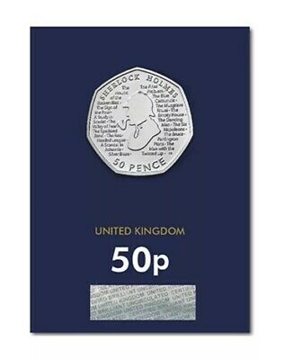 2019 Sherlock Holmes 50p Coin Brilliant Uncirculated Condition. Sealed