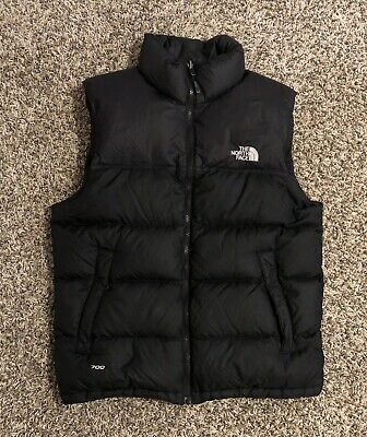 The North Face Mens Goose Down 700 Puffer Vest Small Black Full Zip
