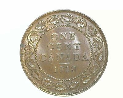 CANADA 1918 LARGE CENT KM21 *ABOUT UNCIRCULATED-to-UNCIRCULATED* ~WC34