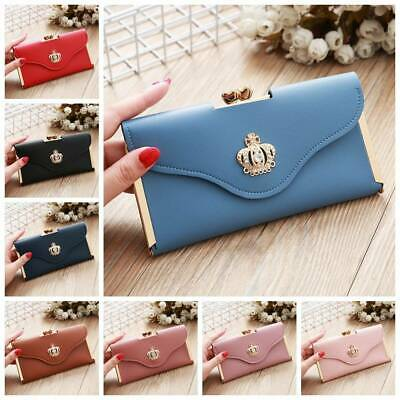Women Lady Clutch Leather Long Wallet Card Holder Phone Bag Case Purse Handbag