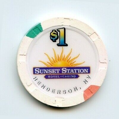1.00 Chip from the Sunset Station Casino in Henderson Nevada