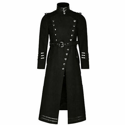 Plague Vintage Doctor Gothic Punk Mens Jacket Coat Steampunk Vintage Cosplay