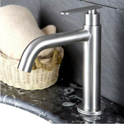 Chrome Bathroom Basin Sink Faucet Single Handle/Hole Hot & Cold Water Mixer Tap