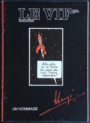 The Hot Magazine Special Tribute Hergé 22 April 1983 Very Good Condition