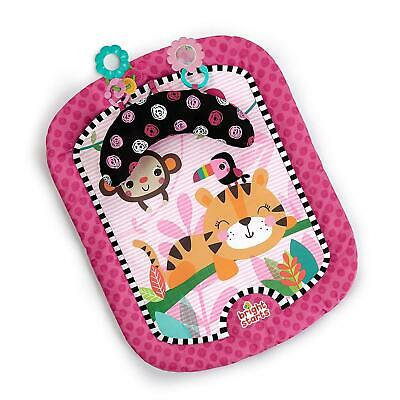 Tummy Time Mat Refresh Rattles Playmat Prop Pillow Toy Set Pink NEW