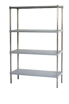M-Span Coolroom Freezer Dry Store Shelving Stainless Steel Post 2000H x 610W