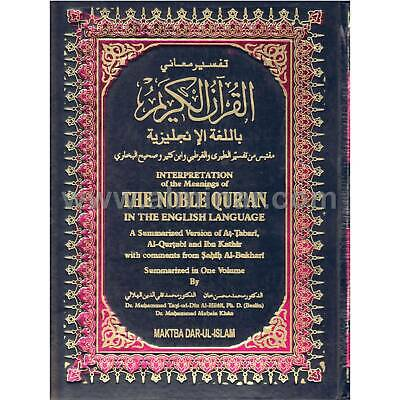 Noble Quran Arabic / English Translation - Two Color Printing - Large Size 17cm