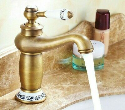 Contemporary Antique Brass Faucets High Quality Bathrooms Sink Basins Faucet New