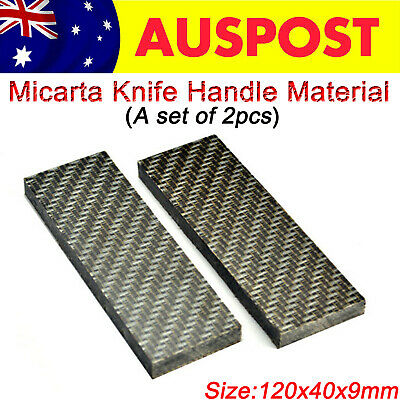 DIY Making Knife Handle Material Scales Micarta Sword Slabs Supply A Set of 2pcs