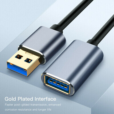 USB 3.0 Cable Super Speed USB Extension Cable USB 2.0 Data Extender Lead New AU
