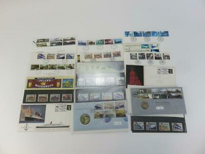Selection of 15 Official Royal Mail  Postage Stamps Theme Vehicles and Transport