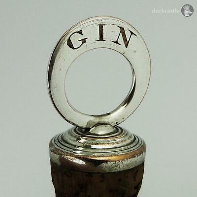 Rare GEORGE III OLD SHEFFIELD PLATE BOTTLE STOPPER GIN c1790