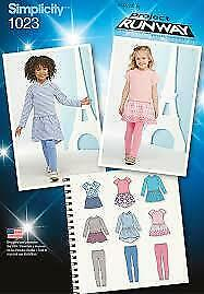 Simplicity Sewing Patterns 1023 / 0298 Childs Girls Dress Leggings Size 3-8