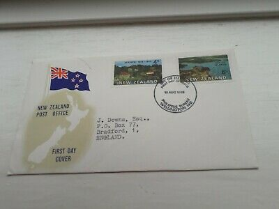 NEW ZEALAND TO UK 1969 FDC COVER STAMPS £2.99 POST FREE WORLDWIDE bx4