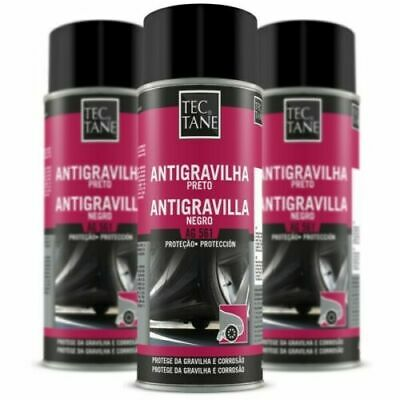 3 Spray Antigravilla 400 Ml Color Negro,Protector Bajos De Coche