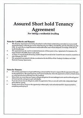 2 COPIES Landlord Assured Shorthold Tenancy Agreements 2019/20 CHEAPEST on eBay.