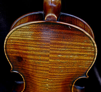 For Professionals! Listen to the video-19th century OLD ANTIQUE GERMAN VIOLIN